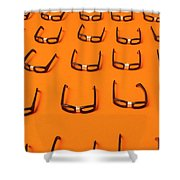 Army Of Nerd Glasses Shower Curtain