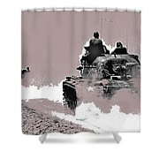 Army Reservists Summer Camp Tanks Death Valley California 1968-2016 Shower Curtain