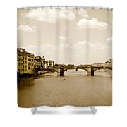 Arno River Florence Shower Curtain