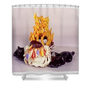 Aromatherapy Angels Shower Curtain