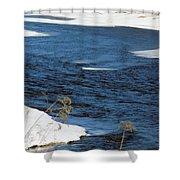 Aroostook River Below The Dam Shower Curtain