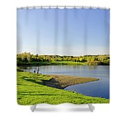 Around Barton Marina Lake Shower Curtain