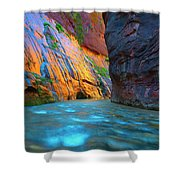 Around The Bend Shower Curtain