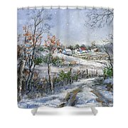 Around The Bend Sold Shower Curtain