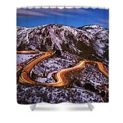 Around The Bends Shower Curtain