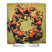 Around The Racetrack Shower Curtain