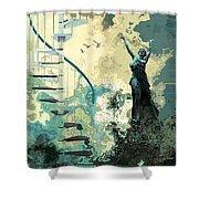 Arpeggiana Shower Curtain