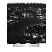 Arrabida Bridge By Night Shower Curtain