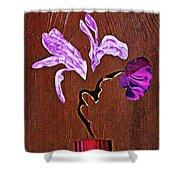 Arrangement In Purple Shower Curtain