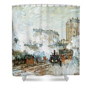 Arrival Of A Train Shower Curtain