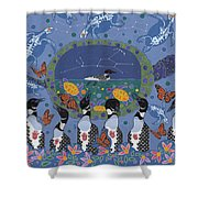 Arrival Of Wintermaker Shower Curtain