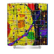 arriving at the nu planet Z-98 Shower Curtain