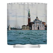 Arriving In Venice Shower Curtain