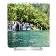 Arrow Bamboo Waterfall Shower Curtain