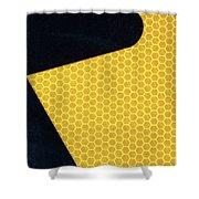 Arrow On Yellow Shower Curtain