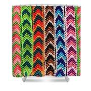 Arrow Pattern Woven Bracelets Shower Curtain