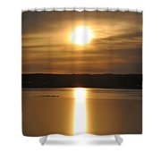 Arrowhead Lake Sunrise Shower Curtain