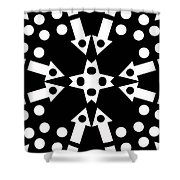 Arrows And Circles Shower Curtain