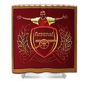 Arsenal London Painting Shower Curtain