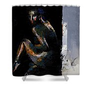 Colour Inversions Temperate Chaos Shower Curtain