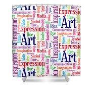 Art And Inspiration Pattern Shower Curtain