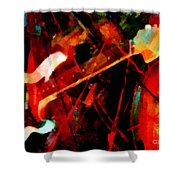 Art And Music Painting Shower Curtain