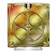 Art Deco Brass 3 Shower Curtain