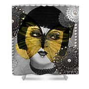 Art Deco Butterfly Woman Shower Curtain