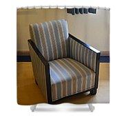 Art Deco Chair Shower Curtain