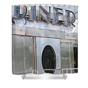 Art Deco Diner Shower Curtain