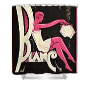 Art Deco Paris Lingerie Ad Shower Curtain
