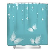 Art En Blanc - S11a Shower Curtain by Variance Collections
