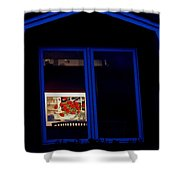 Art Gallery At Night Shower Curtain