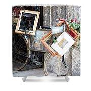 Art Gallery Bike Shower Curtain