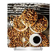 Art In Commercial Coffee Shower Curtain