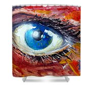 Art In The Eyes Shower Curtain