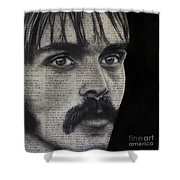 Art In The News 95-steve Prefontaine Shower Curtain