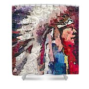Art Indian Chief Pearlesques In Fragments  Shower Curtain