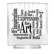 Art Inspiration Creativity Shower Curtain