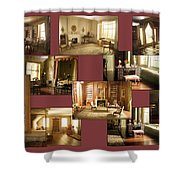 Art Institute Of Chicago Miniature Room Collage Shower Curtain