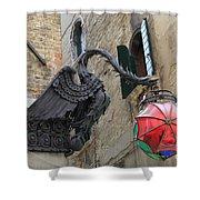 Art Nouveau Dragon In Marzaria Venice Italy Shower Curtain