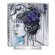 Art Nouveau Girl 1 Shower Curtain