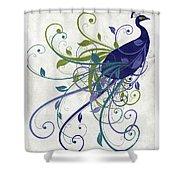 Art Nouveau Peacock I Shower Curtain