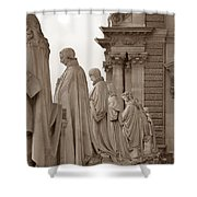Art Observing Life Shower Curtain