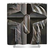 Art Of The Holy Cross Shower Curtain