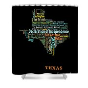 Art Print, Pop Art Texas Map, Modern Style Country Map, Country Maps For Home Decor, Pop Art Map Pri Shower Curtain