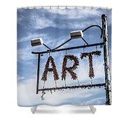 Art Sign Shower Curtain
