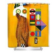 Art Today - London Underground, London Metro - Retro Travel Poster - Vintage Poster Shower Curtain