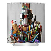 Art Warrior Shower Curtain by Jen Hardwick