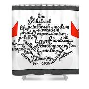 Art Word Cloud 1 Shower Curtain